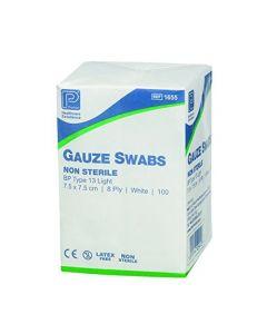 Gauze Swabs 7.5 cm x 7.5 cm - (Pack of 100)